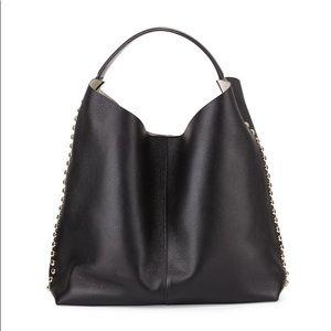 Rebecca Minkoff Stud-Trim Leather Hobo Bag
